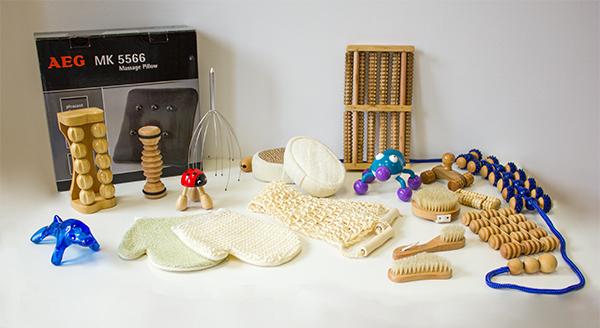Massage sensory kit - Set of pieces of massage in a exploration bag