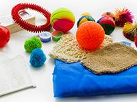 Kit sensorial táctil - Conjunto de piezas de táctil para estimulación sensorial