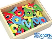 Letras y números magnéticos - Caja de 78 piezas de letras y números magneticos
