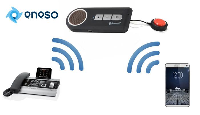 Teléfonos adaptados: realizar y recibir llamadas mediante pulsador