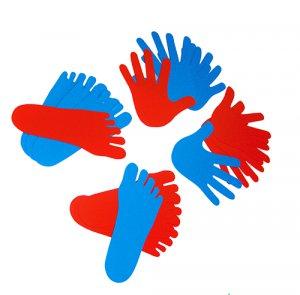 Conjunto de 8 Manos y 12 pies - Set de 8 manos y 12 pies en polipropileno