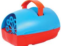 Máquina de burbujas adaptada - Fabrica cientos de pompas de jabón activando un pulsador
