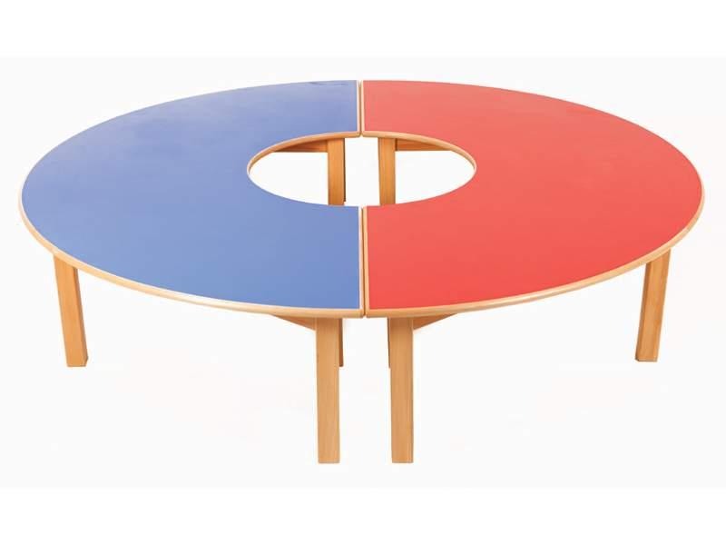Mesa herradura - Mesa de madera 180 x 90 cm
