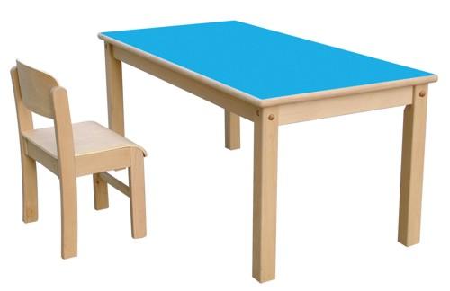 Mesa Rectangular - Mesa de madera de 120 x 60 cm