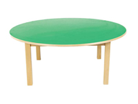 Mesa redonda - Mesa de madera de 120 cm