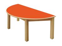 Mesa semicircular - Mesa de madera 120cm