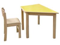 Mesa trapezoidal - Mesa de madera de 120 x 60 cm