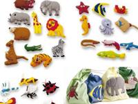 Pack figuras para tapiz Animales - 40 divertidas figuras con velcro