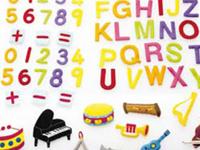 Pack figuras para tapiz Letras números y musica - 62 divertidas figuras con velcro