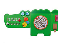 Crocodile activity wall - Five pieces of manipulative activities
