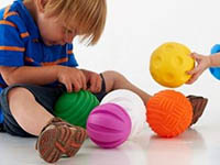 Tactile Balls Set of 6 - With different distinctive surface textures