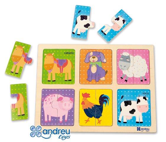 Puzzle - Animales  - 12 piezas en madera