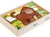 Puzzle Diorama Selva - 4 puzzle de 12 piezas