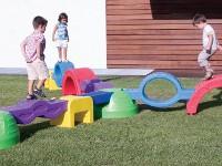Recorrido motriz - Set de 7 modulos de plástico de gran tamaño con multiples combinaciones