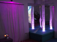 Lite Sensory Room - Sensory space with interactive tube and fibre