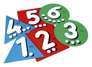 Salta al número - Seis números grandes en 3 colores