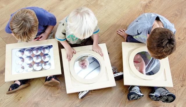 Set de espejos con efectos - 3 espejos: cóncavo, convexo y múltiple