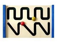 Tablero preescritura rectas - Tableto con circuitos para preparar el aprendizaje de la escritura