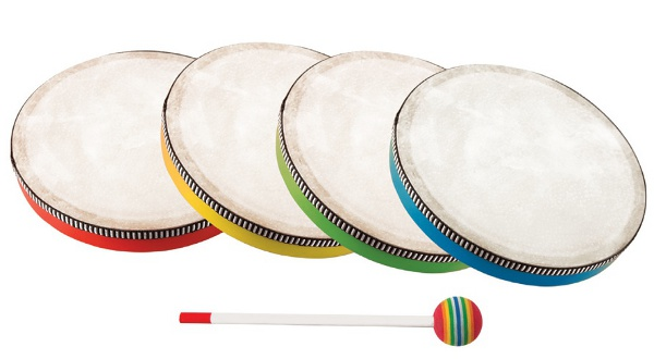 Children hand drum - Coloured hand drum of 20 cm
