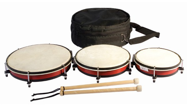 Set of 3 drums in a bag - Set of 3 drums of 20, 25 and 30 cm