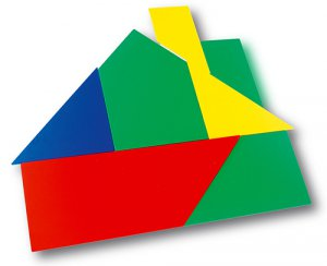 Giant tangram - Super-large rigid pieces in colours. Includes instructions and models