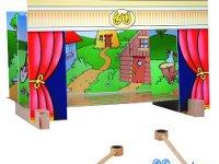 Teatro magnético - Teatro magnético con 15 personajes de 4 cuentos