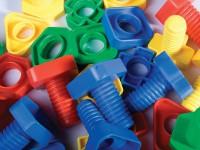 Tuercas y tornillos 32 piezas - 32 tornillos y tuercas con formas diferentes
