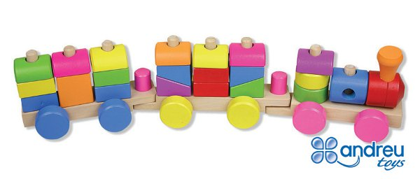 Train 3P - Train with 26 pieces to stack up