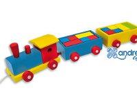 Tren colorines - Tren de arrastre con piezas de construcción