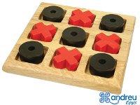 Tres en raya - Clásico juego con piezas grandes en madera