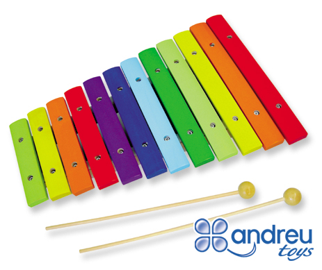 Coloured xylophone - Xylophone for introduction to music