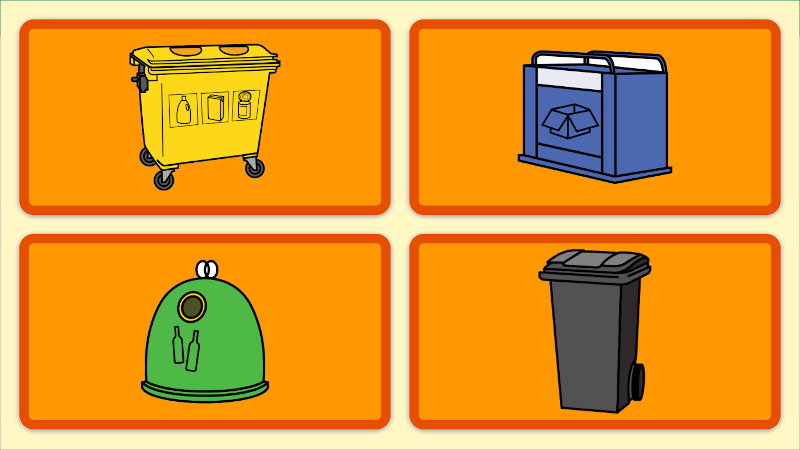 Learn how to recycle, the right bin is...