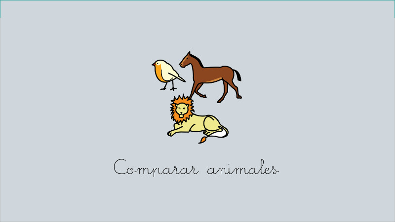 Compare animals (ARASAAC)