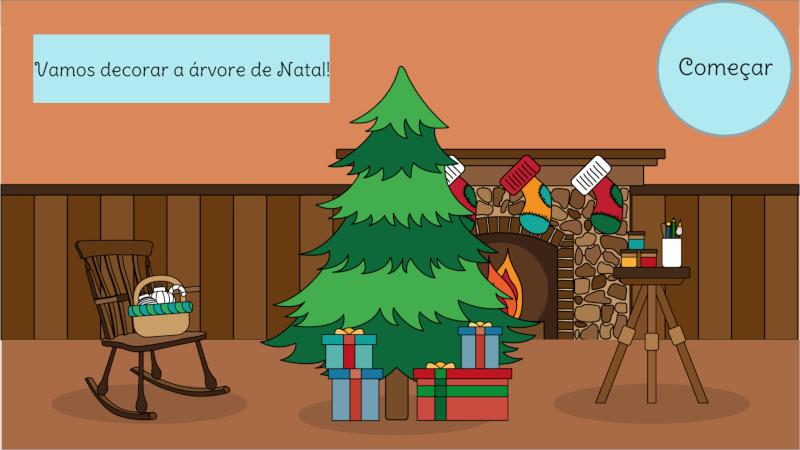 Decorar a árvore de Natal