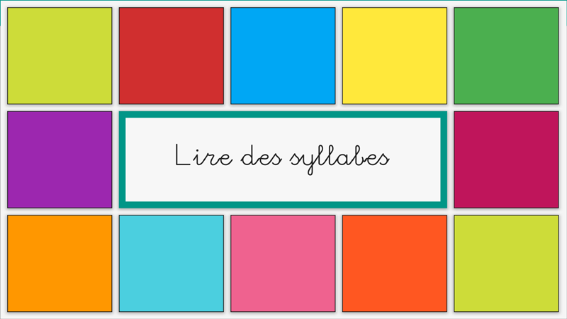 Reading syllables (French)