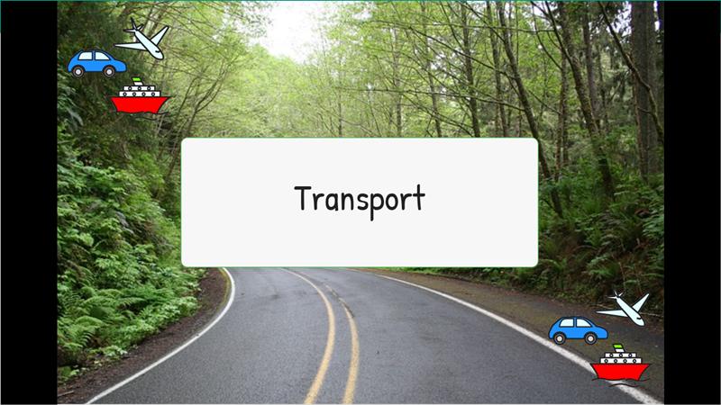 Siluetas - Medios de transporte