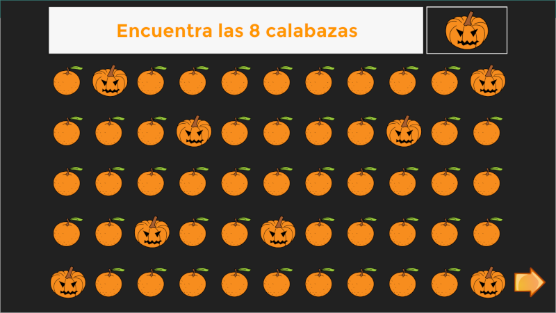 Discriminación visual Halloween